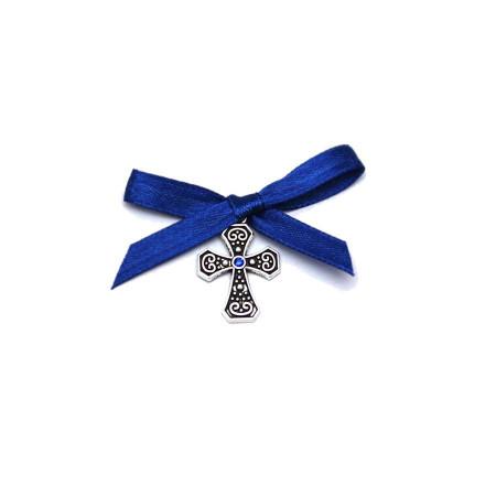 Cruciulite botez stras central, fundita bleumarin Denikos® 91