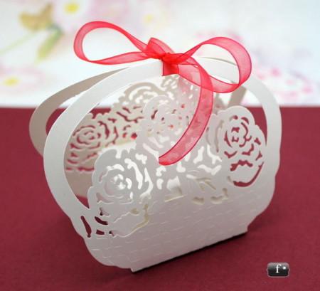 Poze Cutiute cosulet cu trandafiri marturii nunta / botez VN003