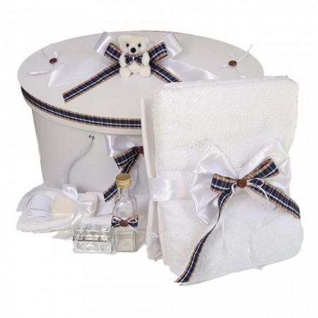Set trusou botez si cutie trusou, Ursulet, Carouri Denikos® 26