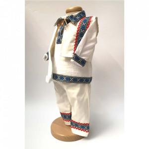 Costum national bebelus baietel, Albastru, Denikos® 671