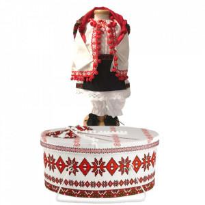 Set costum popular botez fetita si cutie trusou asortata, Denikos® 1002