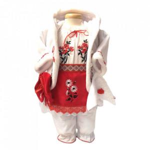 Costum national botez fetita si cutie trusou asortata, Denikos® 1000