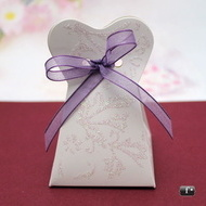 Cutiute marturii nunta tip rochita cu sclipici VN005