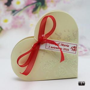 Marturii nunta cutiute inimioara cu sclipici VN008