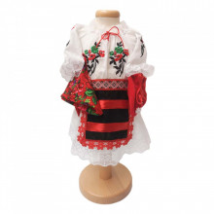 Set botez traditional fetita, trusou botez landou, lumanare si costum traditional, Denikos® 985
