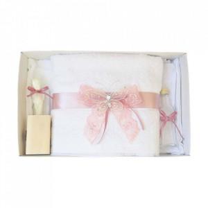 Trusou botez dantela roz pudra si fluturas Denikos® 420