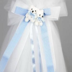 Lumanare botez ursuleti suzete bleu LB017