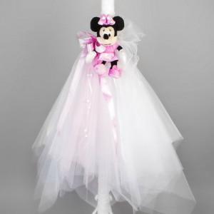 Lumanare de botez Minnie Mouse LB026