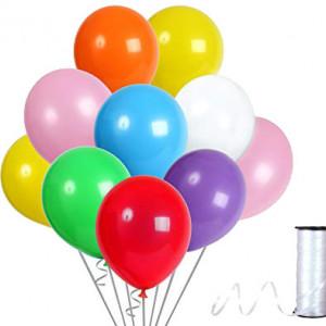 Set party butelie heliu, balon cifra 4 folie, banner si 10 baloane latex
