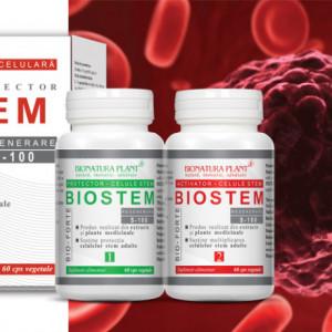 Biostem Forte, protectie si multiplicare a celulelor stem adulte, 2x60 cps