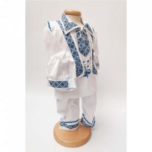 Costum popular bebe baietel, Albastru, Denikos® 672