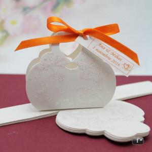 Cutiute marturii nunta / botez poseta cu sclipici VN004
