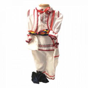Set botez popular baietel, trusou botez landou, lumanare si costum national baiat, Denikos® 970