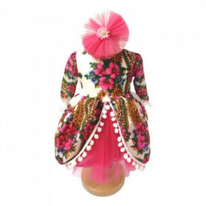 Set botez traditional fetita, trusou botez landou, lumanare si costum popular fata, Denikos® 973