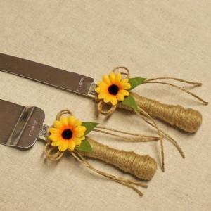 Set tort rustic floarea soarelui P31F