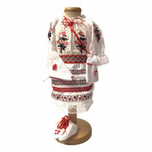 Set botez traditional fetita, trusou botez landou, lumanare si costum traditional, Denikos® 976