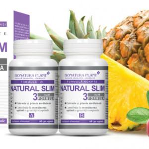 Natural Slim 3, mentinerea optima a greutatii corporale, 2x60 cps