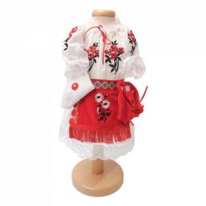 Set botez traditional fetita, trusou botez landou, lumanare si costum traditional, Denikos® 984