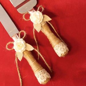Set tort rustic trandafiri si frunzulite panza sac P34F