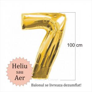 Balon folie cifra 7 auriu