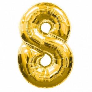 Butelie heliu, cifra 8 balon folie, banner si 10 baloane latex