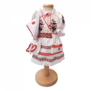 Set botez traditional fetita, trusou botez landou, lumanare si costum traditional, Denikos® 986