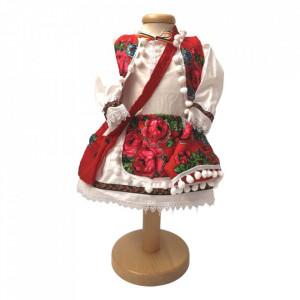 Set costum national botez fetita si cutie trusou asortata, Denikos® 1001