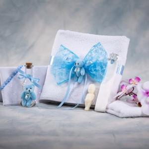 Trusou botez ursuleti bleu NK012