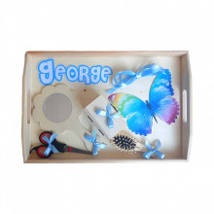 Set tavita mot, baietel 1 an, decor fluture Denikos® 186