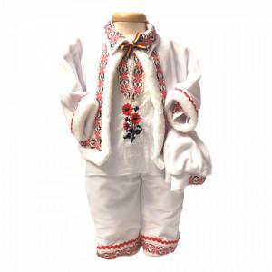Costum traditional botez baietel, broderie Rosie, Denikos® 676