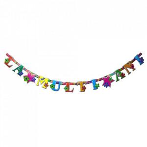 Set party butelie heliu, balon cifra 7 folie, banner si 10 baloane latex