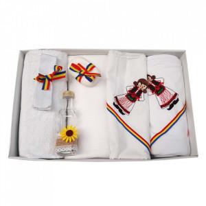 Trusou botez fetita brodat si lumanare, decor traditional, Denikos® 125