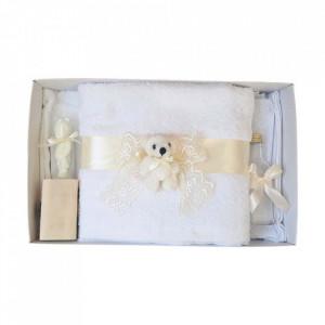 Trusou botez dantela ivory si ursulet Denikos® 438