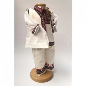 Costum national botez baietel, broderie Grena, Denikos® 674