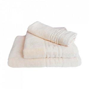 Set 3 prosoape groase si pufoase, bumbac, model grecesc, Crem, Denikos® 257