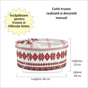 Set costum botez traditional fetita si cutie, Denikos® 990