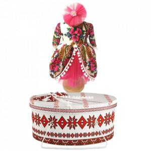 Set costum botez traditional fetita si cutie trusou asortata, Denikos® 992