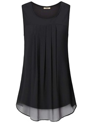 Women's Sleeveless Chiffon Tank Top