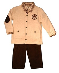 Miniclasix Baby Boy Brown Set