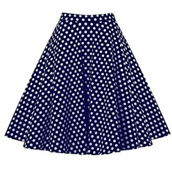 Pleated Skirt Polka Dot