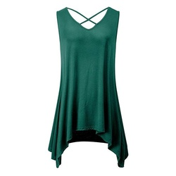 Women's Cross V Neck Summer Tunic