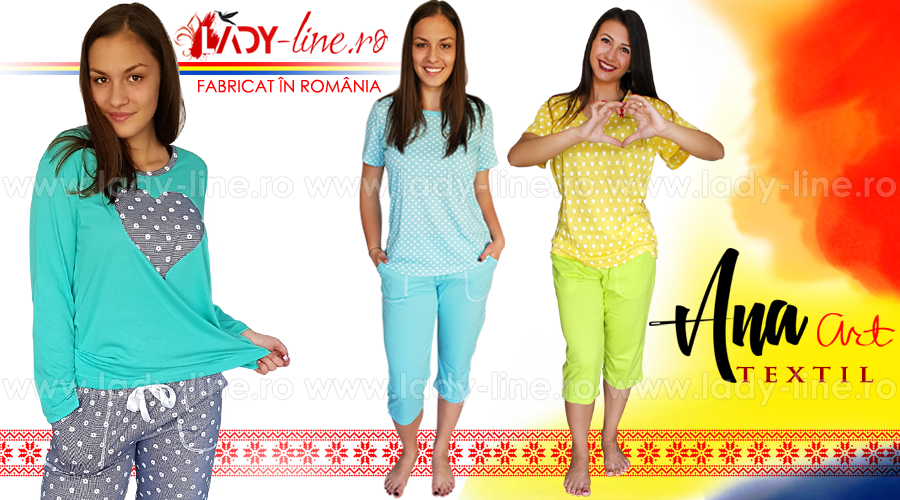 Pijamale Dama Fabricate in Romania Ana Art Textil