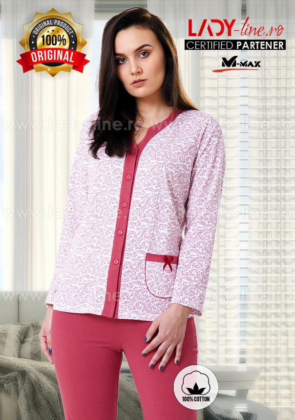 Pijama Dama Bumbac, M-Max, 'Classic Style'