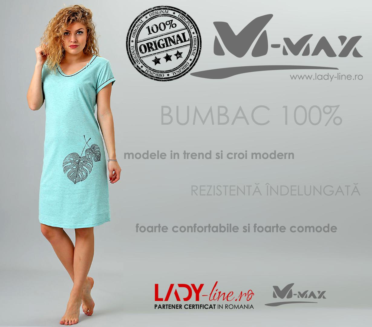 Camasa de Noapte M-Max, Bumbac 100%, 'Connection'