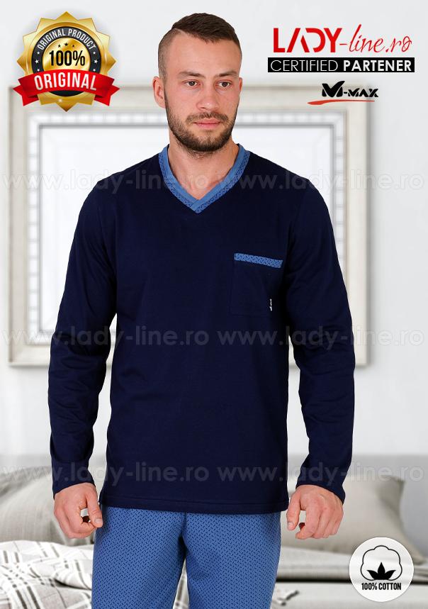 Pijamale Barbati, Bumbac 100%, 'Pacific', M-Max