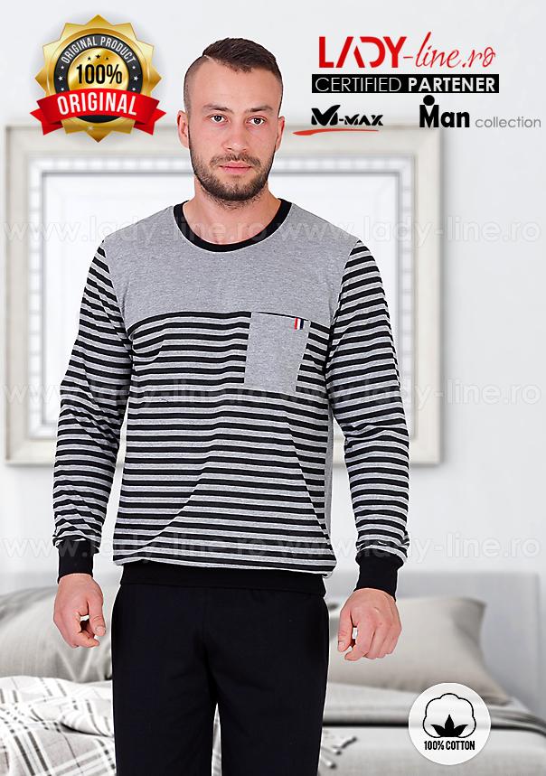 Pijamale Barbati, Bumbac 100%, 'Dynamic Man', M-Max