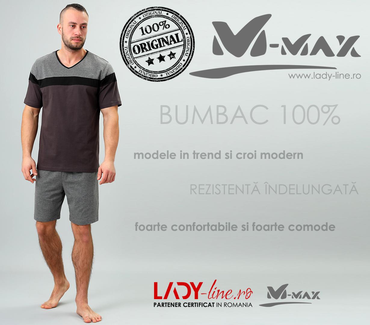 Pijamale Barbati M-Max, Bumbac 100%, 'King of Ground'