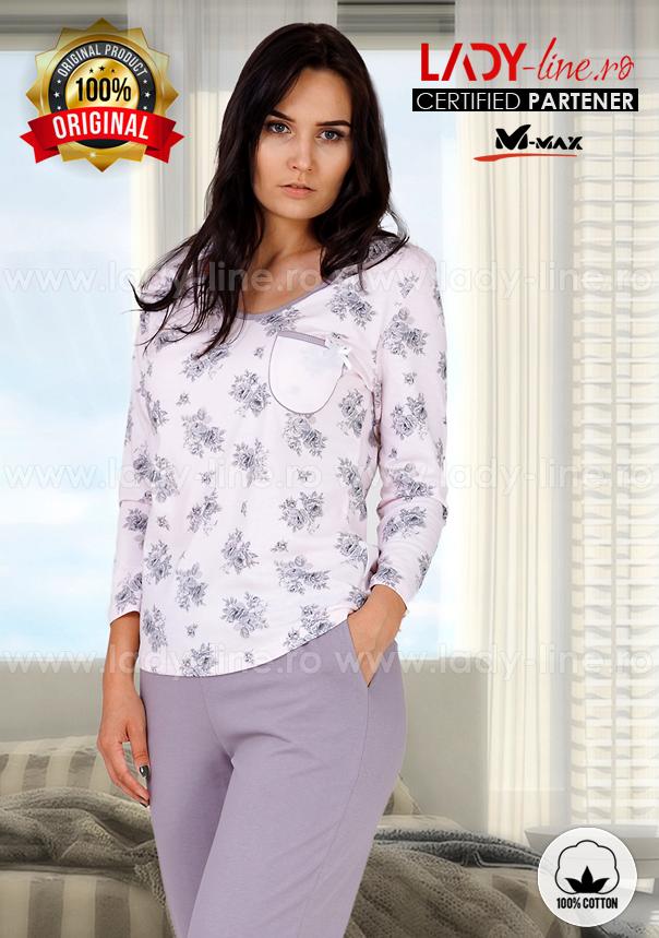 Pijama Dama Bumbac, M-Max, 'La Vie En Rose'