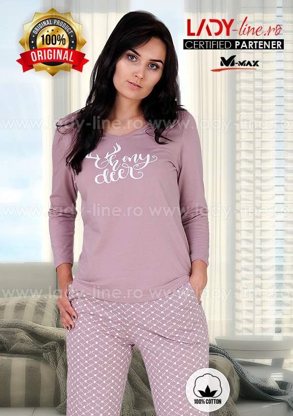Pijama Dama Bumbac, M-Max, 'Oh My Deer'