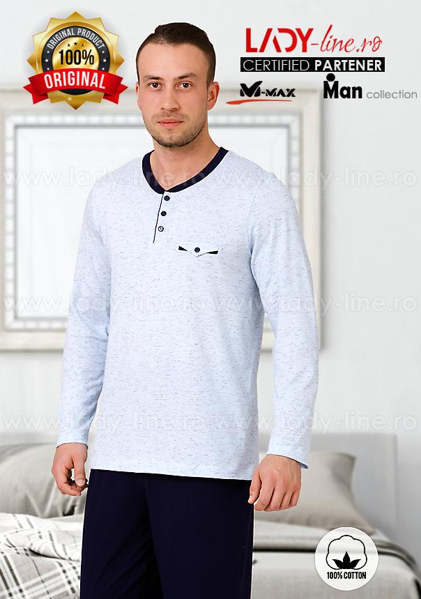 Pijamale Barbati, Bumbac 100%, 'Simplicity Line', M-Max